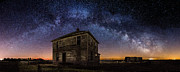 Old House Photo Metal Prints - Forgotten under the Stars  Metal Print by Aaron J Groen