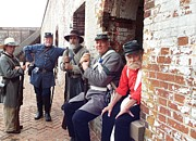 Colonial Actors Prints - Fort Moran Military Actors Print by Cindy Croal