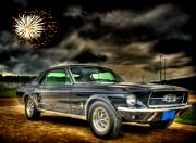 Classic Mustang Framed Prints - Forth of July Mustang Framed Print by Thomas Young