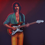 Singer Painting Prints - Frank Zappa Print by Paul  Meijering
