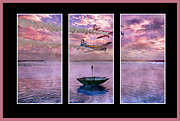 Trio Prints - Freedom Flyers Print by Betsy A Cutler East Coast Barrier Islands