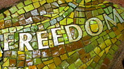 Mosaic Photos - Freedom by Randall Weidner