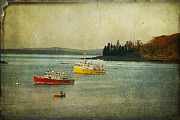 Cindi Ressler Prints - Frenchmens Bay Fishing Boats Print by Cindi Ressler