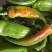 Chilies Posters - Fresh Hatch Chilies Poster by Loree Johnson