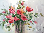 Joyce Hicks Framed Prints - Fresh Roses Framed Print by Joyce Hicks