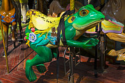 Frog Photo Posters - Frog carrousel ride Poster by Garry Gay