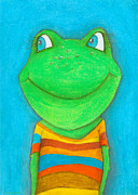 Childrens Art Art - Frog by Sonja Mengkowski