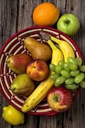Peaches Photo Metal Prints - Fruit Basket Metal Print by Garry Gay