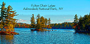 National Park Drawings - Fulton Chain Lakes  by Diane E Berry