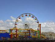 Amusement Ride Framed Prints - Fun at Santa Monica Pier Framed Print by Kim Hojnacki