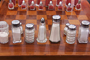 Chess Queen Photo Posters - Funky Chess Set Poster by Art Block Collections