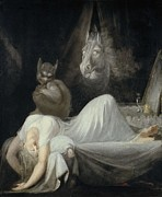 Nightmare Framed Prints - Fuseli, Johann Heinrich 1741-1825. The Framed Print by Everett