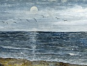 Galveston Paintings - Galveston Beach by Suzanne Theis