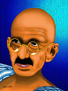 Beat It Prints - Gandhi Print by Charles Smith