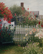 Cape Cod Paintings - Garden Solitude by OMalley Keyes