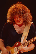 Concerts Prints - Gary Richrath of REO Speedwagon at Oakland Auditorium 1979 Print by Daniel Larsen