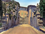 Mansion Prints - Gate and Lions Print by Terry Reynoldson