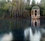 Paths Photos - Gazebo and Lake by Terry Reynoldson