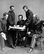 General Custer Prints - General Philip Sheridan And His Staff  Print by War Is Hell Store