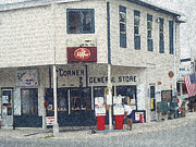 4th Of July Mixed Media Metal Prints - General Store Metal Print by Dennis Buckman