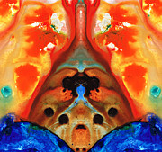 Enigma Prints - Genie In A Bottle - Visionary Art By Sharon Cummings Print by Sharon Cummings