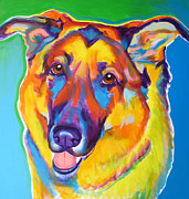Alicia Vannoy Call Framed Prints - German Shepherd - Thomas Framed Print by Alicia VanNoy Call