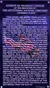 War Of Independance Posters - Gettysburg Address Poster by Barbara Chichester