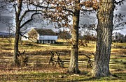 Reynolds Prints - Gettysburg at Rest - Winter Edward Mc Pherson Farm Print by Michael Mazaika