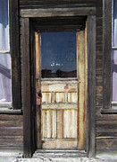 Handcrafted Metal Prints - Ghost Town Handcrafted Door Metal Print by Daniel Hagerman