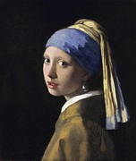 Famous Artists - Girl with a Pearl Earring by Johannes Vermeer