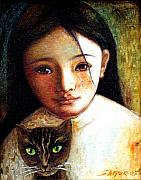 Shijun Munns - Girl with Cat