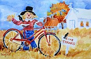Thanksgiving Paintings - Give Thanks by Suzy Pal Powell