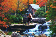 Rustic Mill Framed Prints - Glade Creek Grist Mill Framed Print by Lianne Schneider