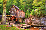 Old Mill Posters - Glade Creek Mill  Poster by Gregory Ballos
