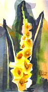 Glads Paintings - Gladiolas in Wintertime by Kip DeVore