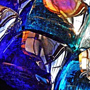 Prismatic Prints - Glass Abstract 10 Print by Sarah Loft