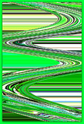 Lime Green Framed Prints - Go with the Flow Framed Print by Carol Groenen