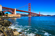 California Photography Posters - Golden Gate Bridge San Francisco Bay Poster by Scott McGuire