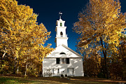 Enfield Prints - Golden glory over meeting house Print by Jeff Folger