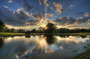 Golfcourse Prints - Golfcourse Sunset Print by David Dufresne