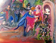Ballet Dancers Paintings - Good first rehearsal by Judith Desrosiers