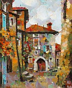 Wall Art Mixed Media - Gordes- colorful street by Dragica  Micki Fortuna