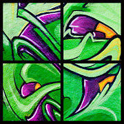 Art Blocks - Graffiti in Green