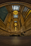 Chandeliers Prints - Grand Central Corridor Print by Susan Candelario