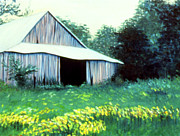 Old Barn Paintings - Granddaddys Barn by Ceilon Aspensen
