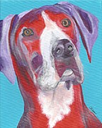 Custom Great Dane Portrait Framed Prints - Great Dane Framed Print by Alisann Smookler