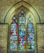 Stained Glass Window Photos - Great Tribulation by Ian Mitchell