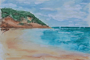 Ocean Art. Beach Decor Originals - Grecian Sea by Donna Blackhall