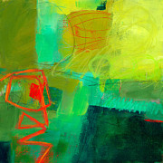 Green Color Art - Green and Red #1 by Jane Davies