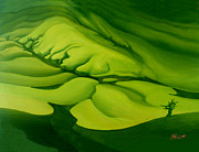 Aotearoa Paintings - Green Green by Patricia Howitt